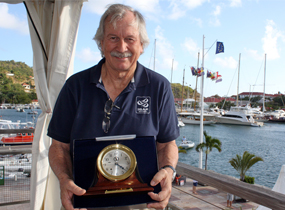 Jim Capron with Chelsea Clock_award